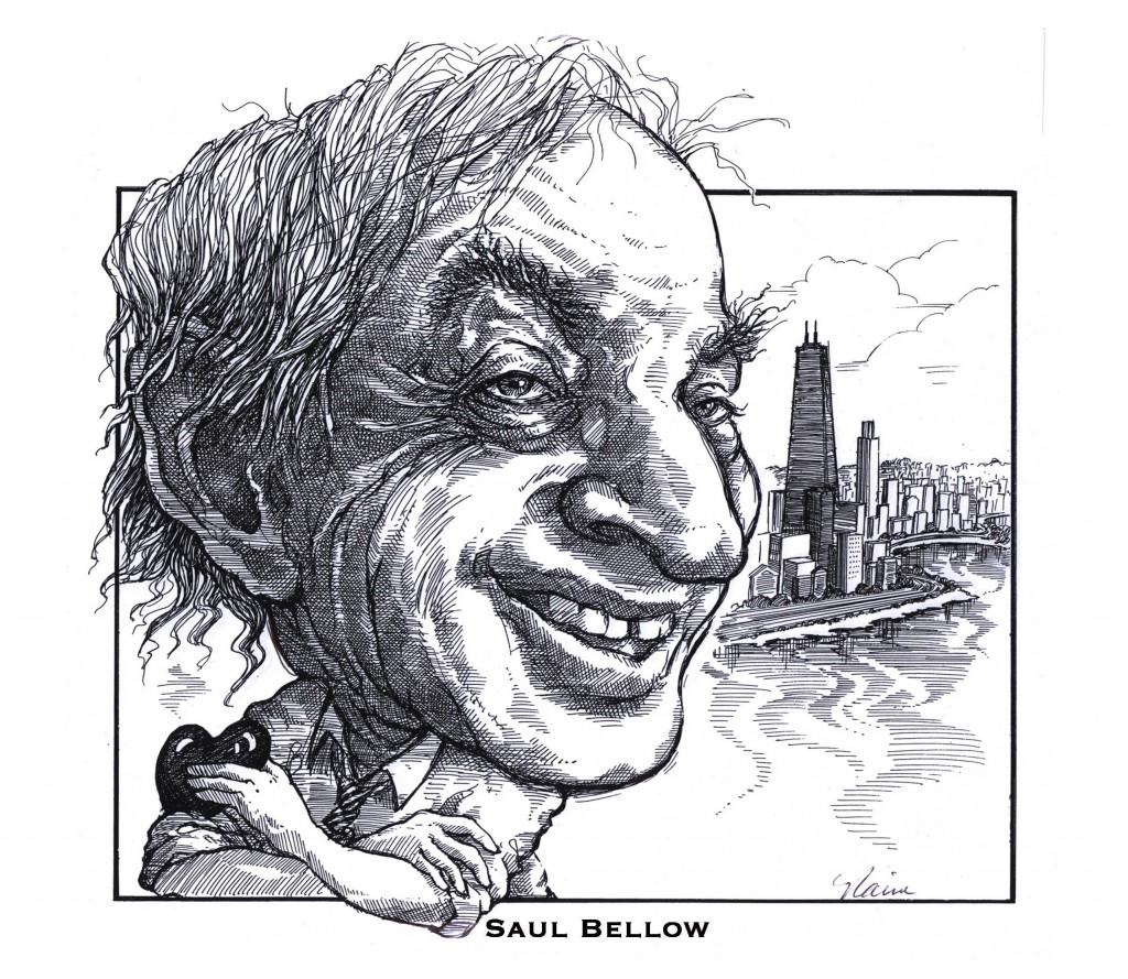 HORIZONTAL B&W PORTRAITS CARICATURES - BELLOW